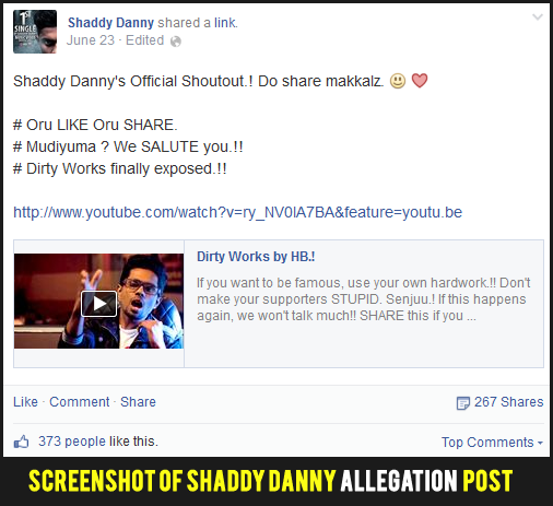 Shaddy Danny Alleges Dirty Works by Havoc Brothers