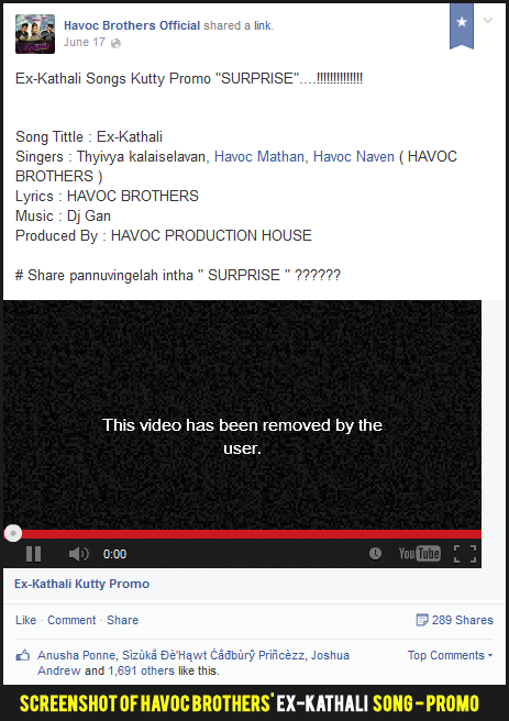 Havoc Brothers Ex-Kathali promo removed