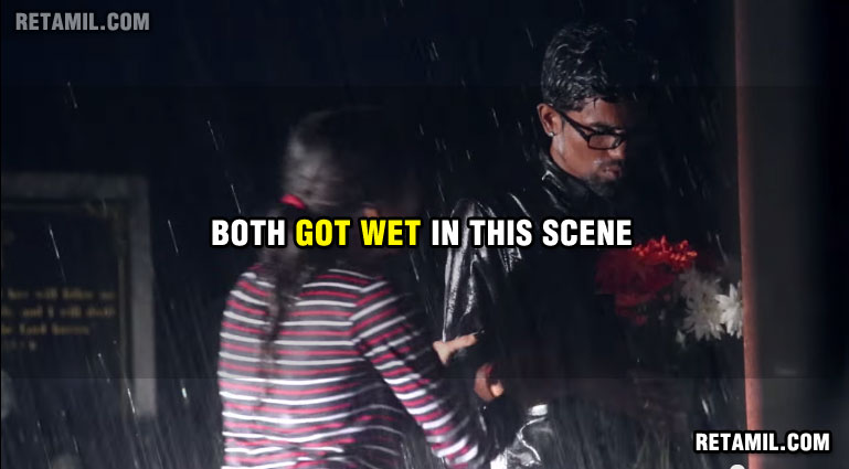 Both who got wet in the rain are completely dry in next scene